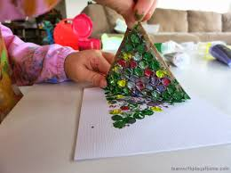 holiday card craft for preschoolers paper plate laced christmas
