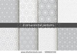 big set 20 patterns white stock vector 534798139
