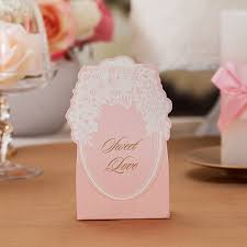 wedding favor boxes wholesale floral lace pink wedding party favor boxes ewfb079 as low as 0 93
