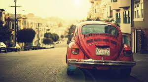 volkswagen wallpaper 2560x1440 old red volkswagen beetle in the street desktop pc and