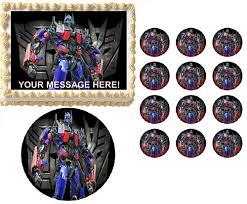 optimus prime cake topper transformers optimus prime characters edible cake topper frosting
