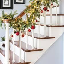 Christmas Banister Garland Diy Christmas Stairway Garland Dwellinggawker