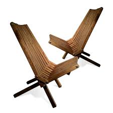 Outdoor Lounge Furniture Wood Amazon Com Glodea X36p1bns2 Lounge Chair Brown Stain Set Of 2
