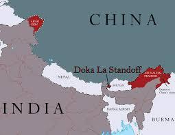 Himalayas On World Map by High Noon In The Himalayas Behind The China India Standoff At Doka La