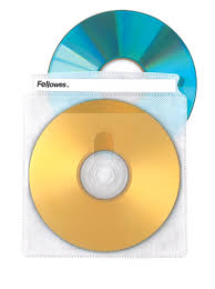 double sided cd dvd sleeves 25 pack fellowes