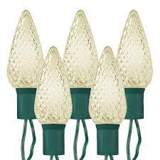 c9 warm white led christmas lights 25 bulbs warm white led c9 lights green wire