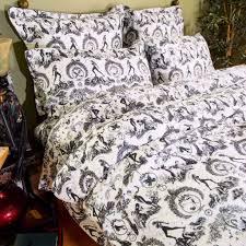bed sheet sets al fresco toile print bedding sin in linen