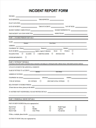 100 incident report forms templates nursing report template