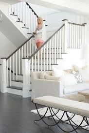 get the look fresh white home with pops of pink staircases