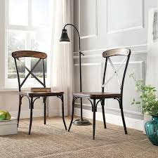 Rustic Dining Chair Nelson Industrial Modern Rustic Cross Back Dining Chair By Inspire