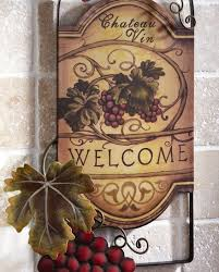grape home decor wine wall decor wine bottle shaped metal wall art hanging grapes