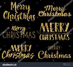 merry six unique gold lettering stock vector 494333863