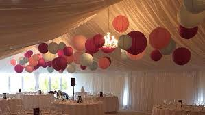 paper lanterns with lights for weddings pink and blue paper lanterns wow in this wedding marquee hanging