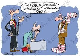 dessin humoristique travail bureau dégradation des conditions de travail des salariés illustration