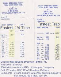 2005 nissan altima 3 5 quarter mile time 2004 nissan altima 3 5se 1 4 mile trap speeds 0 60 dragtimes com