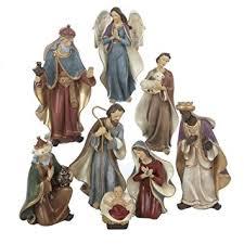 kurt adler resin nativity figurine set 6 25 inch set