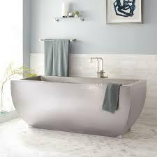 modern stainless steel tub signature hardware