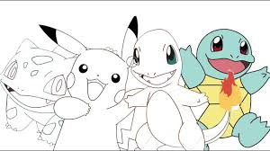pokemon pikachu charmander bulbasaur squirtle coloring