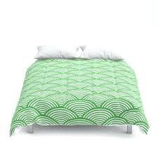 bedding simple japanese duvet cover soft microfiber material green