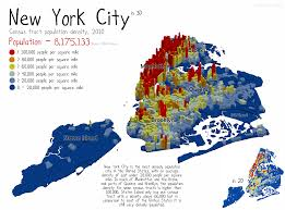 Nyc City Map Under The Raedar Population Density In New York City