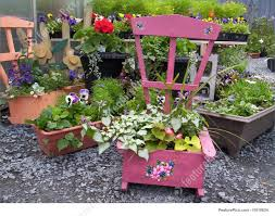 Garden Rocking Chair by Rocking Chair Flowers Photo