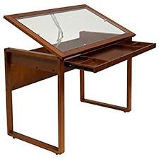 Vintage Drafting Table Studio Designs 13304 Vintage Drafting Table Rustic Oak Amazon