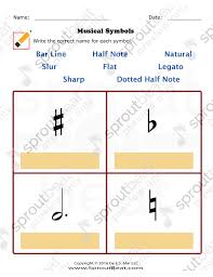 music worksheets u2013 musical terms and symbols