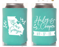wedding koozies state wedding koozie etsy