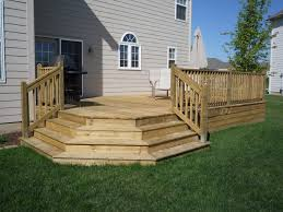 Decking Kits With Handrails 12 X 16 Deck Plans With 11 U0027 Table Bump Out House Ideas