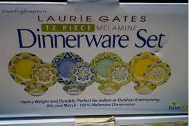 costco clearance laurie gates 12 melamine dinnerware set