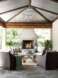 44 Best Patio Roof Designs Images On Pinterest Patio Roof Patio by 50 Stylish Outdoor Living Spaces Freestanding Fireplace Porch