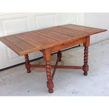 antique oak barley twist pub style dining table chairish