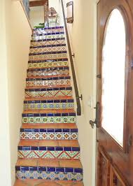 stairs using mexican tiles by kristiblackdesigns com kristi