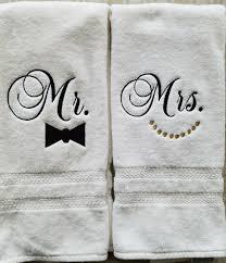 wedding gift towels monogrammed towel set wedding gift shower gift mr mrs set of