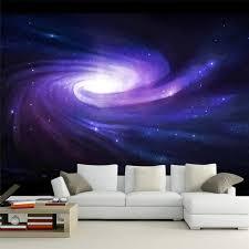 galaxy wall mural 3d wallpaper modern creative space galaxy purple swirl wall