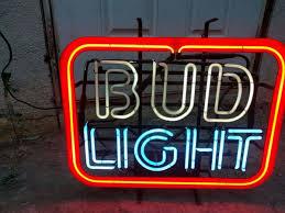 bud light light up sign vintage bud light neon sign vintage bud light neon sign collectibles
