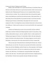 compare and contrast of thanksgiving and essay