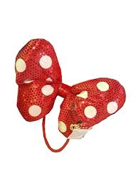minnie mouse hair bow hair accessory minnie mouse bow plush hair tie