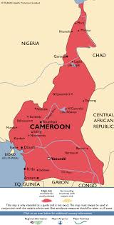 map of cameroon cameroon malaria map fit for travel
