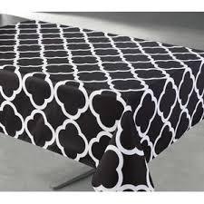 Black And White Table Cloth Geometric Tablecloths You U0027ll Love Wayfair