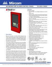 cat 5941 flex net fx 2003 12n network fire alarm control panel en