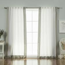 buy white linen curtains from bed bath u0026 beyond