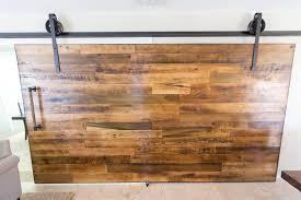 reclaimed tobacco barn brown sliding barn door aka rolling wood