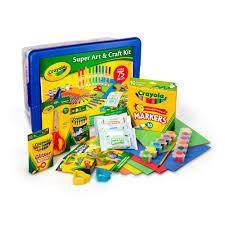 amazon com crayola super art u0026 craft kit toys u0026 games