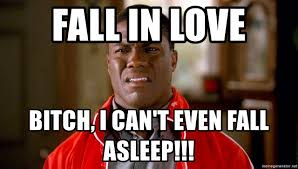 I Can T Even Meme - fall in love bitch i can t even fall asleep kevin hart too