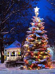 fashionable tree with snow and lights 7 5 foot chritsmas decor