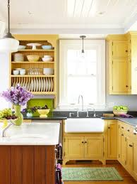 yellow kitchen cabinets home design ideas