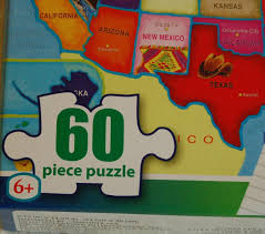 United States Map Puzzle For Kids by Usa United States Of America Map Puzzle W State Capitals 60 Pc