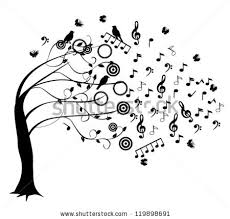 vector musical tree notes stock vector 145103035