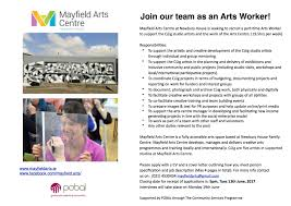 we are hiring part time arts worker position mayfieldarts